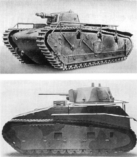 """Foto  Dos """"panzer"""" en la gama de tractores  el """"Grosstraktor"""" (arriba) 90fcff9de12"""